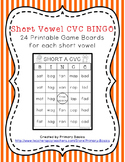 Short Vowel CVC BINGO Bundle