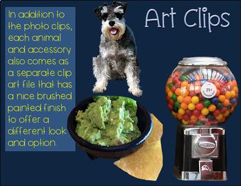 Short Vowel CVC Clipart BUNDLE Real Clips 146 Photo & Artistic Digital Stickers
