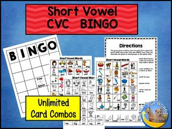 Short Vowel CVC Bingo
