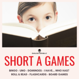 Short A Games - CVC Bingo, Dominoes, and other Board Games