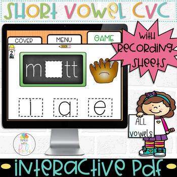 DIGITAL Short Vowel Task Cards for Google Classroom