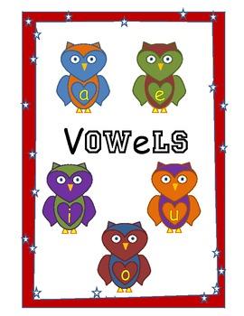 Short Vowel CVC Build Owl Fun File Folder