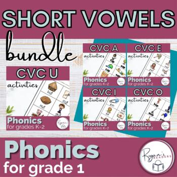 Short Vowel CVC Word Work Phonics Bundle