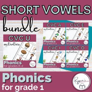 Short Vowel CVC Word Work Phonics Bundle