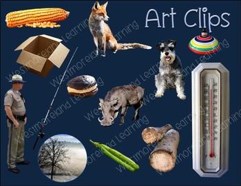 Short Vowel CVC Clip Art Short O Real Clips Photo & Artistic Digital Stickers