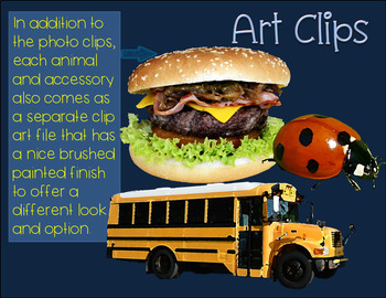 Short Vowel CVC Clip Art Short U Real Clips Photo & Artistic Digital Stickers