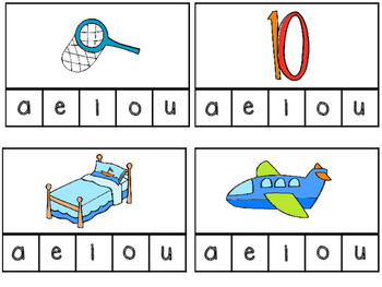 Short Vowel CVC Clip Cards--Morning Tubs/Center