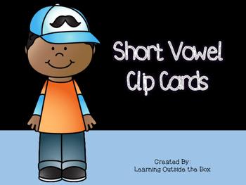 Short Vowel CVC Clip Cards--Morning Tubs/Center