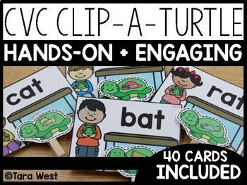 Short Vowels CVC Clip-a-Turtle