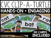 Short Vowels CVC Clip-a-Turtle