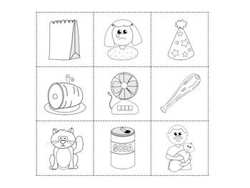 Short Vowel CVC Color, Cut and Match Pack