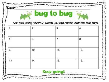 Short Vowel CVC Create-a-Word Activity Pack