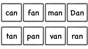 Short Vowel CVC Flashcards