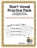 Short Vowel (CVC & Glued Sounds) Pack. Memory + Roll, Spell, Color + Assessment