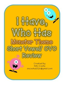 Short Vowel /CVC I Have Who Has Game