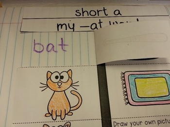 Short Vowels Interactive Notebook / Short Vowels Word Work
