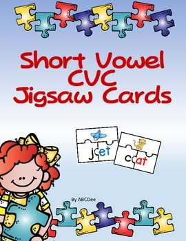 Short Vowel CVC Jigsaw Cards