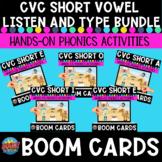 Short Vowel CVC Listen and Type Boom Card Bundle