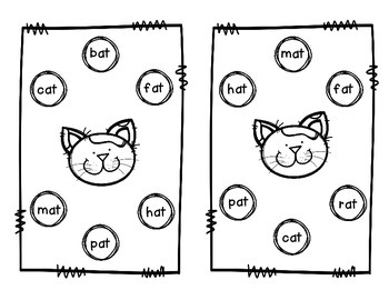 Short Vowel CVC Matching Games