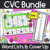 Phonics Short Vowel CVC Mini Bundle Word Lists and Games Superhero Kids