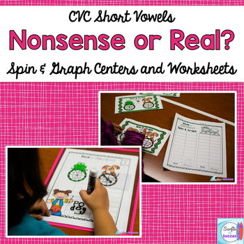 Short Vowel CVC: Nonsense Words or Real Words? Spin and Graph Activity