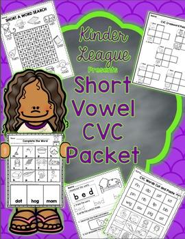 Short Vowel CVC Packet by Kinder League