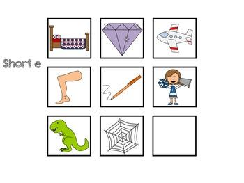 Short Vowel CVC Pattern: Reading, Writing, Matching, Sorting (CC Aligned)