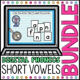 Short Vowel CVC Digital Phonics Word Work BUNDLE Google Cl