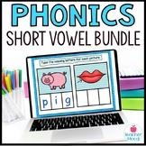 Short Vowel CVC Digital Phonics Word Work BUNDLE Google Cl