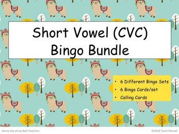 Short Vowel (CVC) Phonics Bingo Bundle