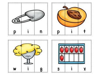 Short Vowel CVC Picture Puzzles
