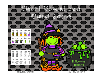 Short Vowel CVC Playing Cards {Halloween Themed}