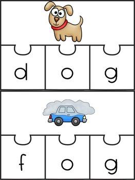 Short Vowel CVC Puzzles