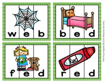 Short Vowel CVC Puzzles Bundle