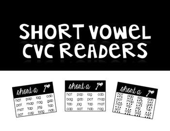 Short Vowel CVC Readers | Printer Friendly