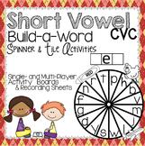 Short Vowel CVC Spinner & Tile Activity BUNDLE