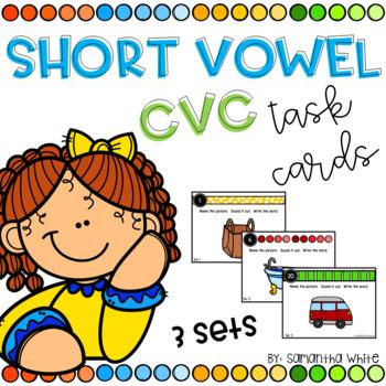 Short Vowel CVC Task Cards