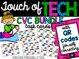 Short Vowel CVC Task Cards with QR Codes for Self-Correcting BUNDLE