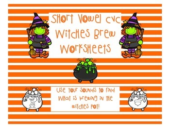 Short Vowel CVC Witches Brew