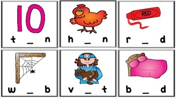 Short Vowel CVC Word Activity Pin It, Clip It, Read It!