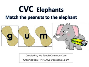 Short Vowel CVC Word Building Literacy Center Daily Five