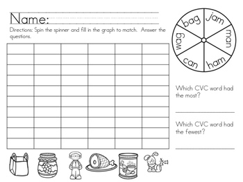 Short Vowel CVC Word Bundle