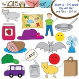 Short Vowel CVC Word Clip Art - Short a Vowel Sound Set
