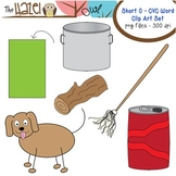 Short Vowel CVC Word Clip Art - Short o Vowel Sound Set