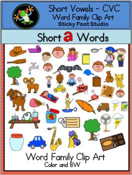 CVC Words Clip Art - Huge Bundle (247 graphics)