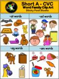Short Vowel CVC Word Family Clip Art - Short A