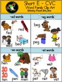 Short Vowel CVC Word Family Clip Art - Short E