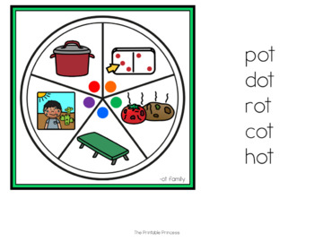 Spin a CVC Word Families {Word Work Activities}