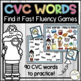 Short Vowel CVC Word Fluency Games - Find it Fast - Reading and Writing Activity