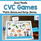 Short Vowel CVC Word Match Games and Bump Games